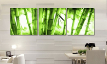 Buy Framed art 3p wall art picture Canvas Wall Painting decor green bamboo Adorn bedroom Modern Pictures home decor for $13.26 in AliExpress store
