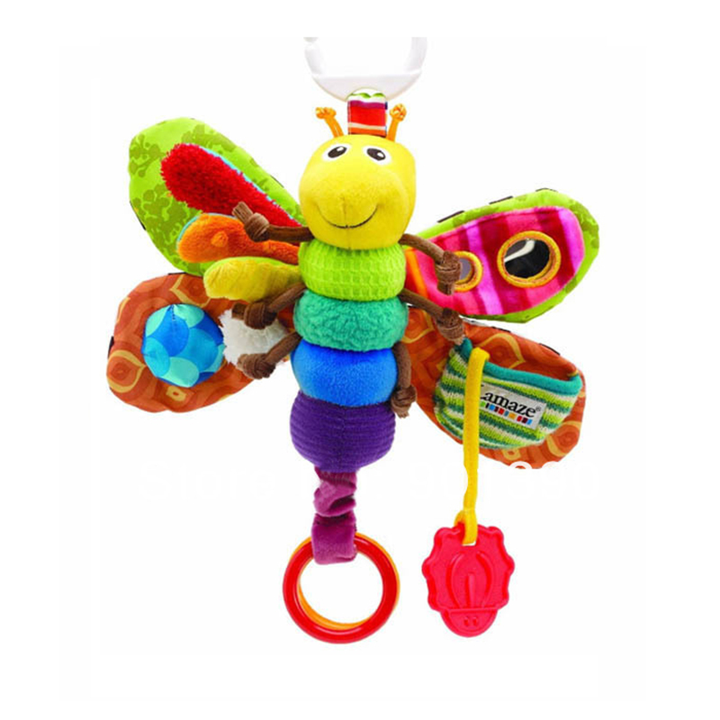 Lovely Baby Inchworm Plush toy toddler best selling toys Fly Honey Bee Toys / Wrist Rattles Baby Plush toys(China (Mainland))