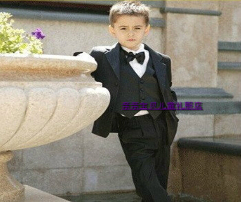 Retail 1 set 2014 New High quality Children clothing set suit kids blazers boys suits for wedding 9 pcs free shipping CC0177(China (Mainland))