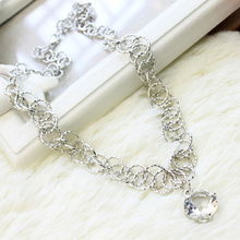 2016 New Arrival Women Chokers Necklaces Zircon Crystal Necklace(China (Mainland))