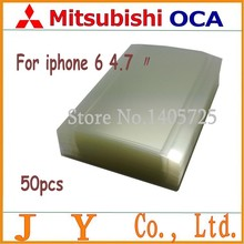50pcs 4.7  inch for mitsubishi  OCA optical clear adhesive 250um for iphone 6/6s 4.7 inch lcd/digitizer glass repair fix(China (Mainland))