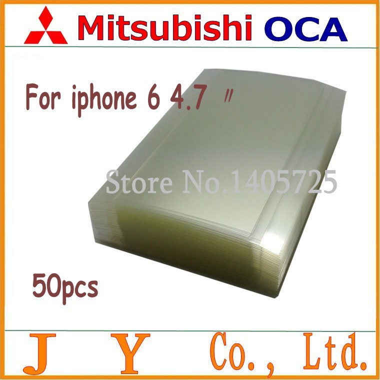 50pcs 4.7 inch for mitsubishi OCA optical clear adhesive 250um for iphone 6 4.7 inch lcd/digitizer glass repair fix
