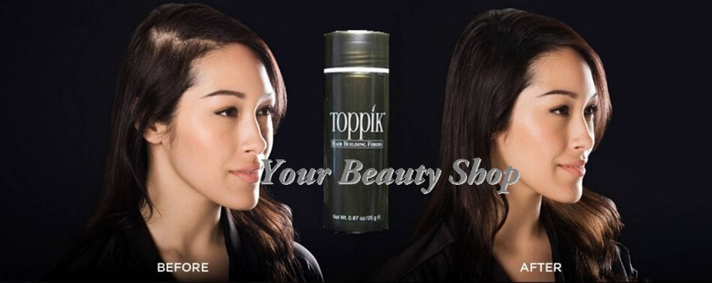 Toppik Black/Dark Brown/Light Brown 10 Colors Thinning Hair Loss Product Hair Growth Solution Fibers(China (Mainland))