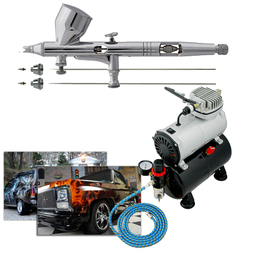 100-240V Airbrush Compressor Makeup Body Painting Car Painting Tools 0.2mm 0.3mm 0.5mm Nozzles(China (Mainland))