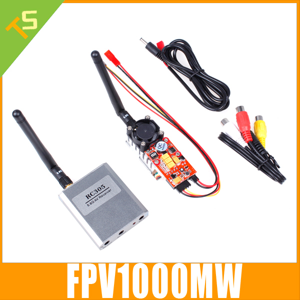 Free Shipping Micro 5.8Ghz Video AV TX RX Combo System FPV 1000mW 5.8 ghz Transmitter Receiver 5.8G(China (Mainland))
