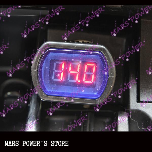 LED Display Cigarette Lighter Electric Voltage Meter For Auto Car Battery