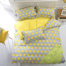 2015 Dropshipping Hot Cotton Bed Sheets Housse de Couette de Marque Bed Linen Cotton Pear Duvet Covers Twin Full Queen Size(China (Mainland))