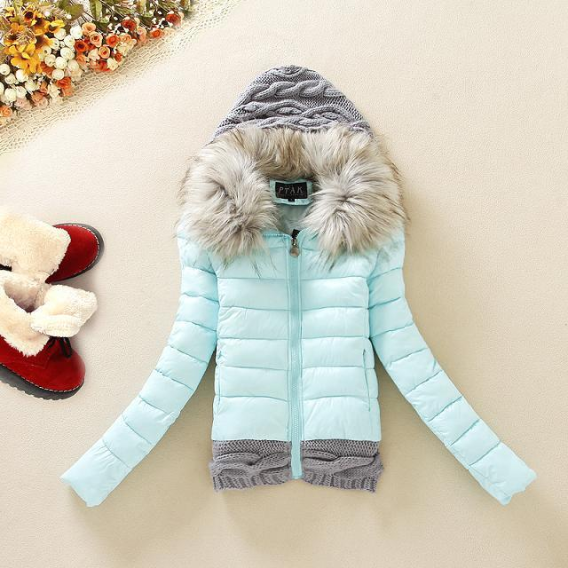 New Arrivals 2015 Winter Jacket Women Fashion Slim Big Fur Collar Warmth Outdoor Casual Down Coat(China (Mainland))
