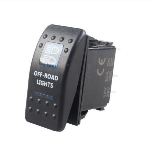 Car Bar Carling Waterproof Rocker Toggle Switch Blue LED Off Road Light Sales(China (Mainland))