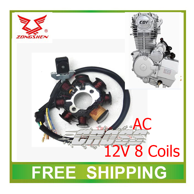 zongshen  cb250 250cc engine air cooled AC magneto coil stator 12V 8coils dirt pit bike atv quad accessories free shipping<br><br>Aliexpress