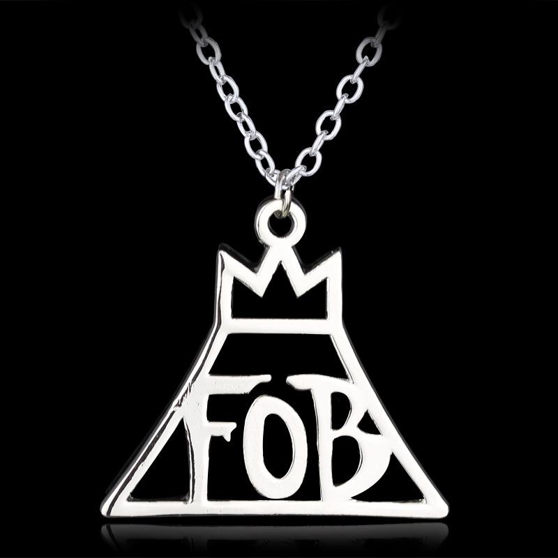 jewelry fashion band fall out boy fob logo metal pendant