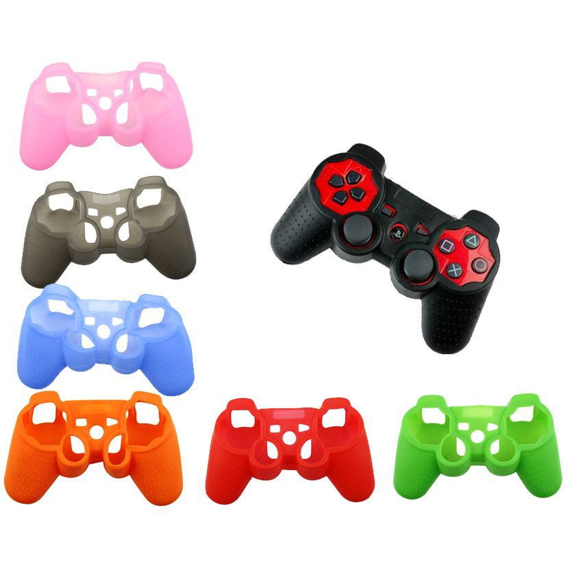 9 colors New Silicone Skin Protective soft Case Cover for Playstation 3 PS3 Gamepad Controller wholesale factory price free ship<br><br>Aliexpress