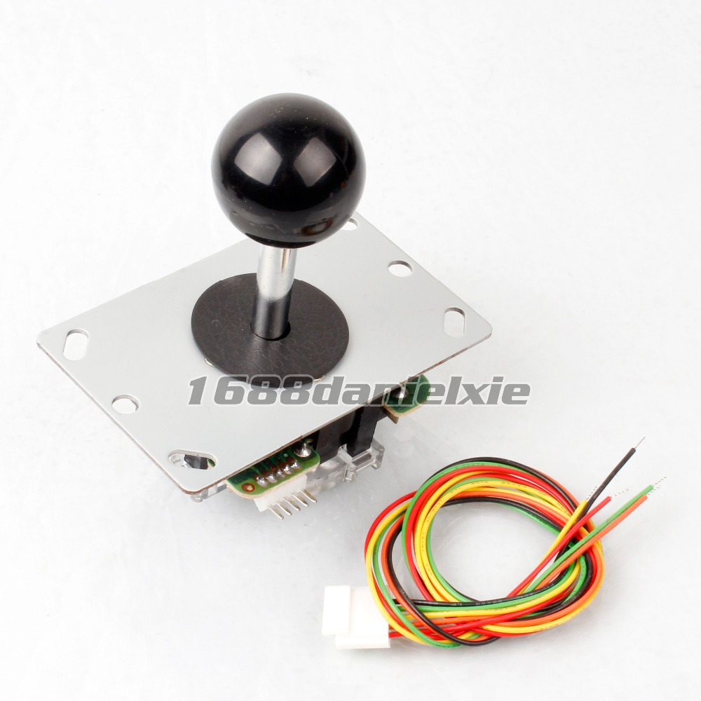 New Black Arcade Competition 4 - 8 Way Rocker China Sanwa Joystick For Arcade DIY Kits Mame Jamma KOF SNK of 7 Colors(China (Mainland))