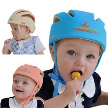 Baby Toddler Safety Helmet Headguard Cap Adjustable Hat No Bumps Kids Walk Learning Helmets(China (Mainland))