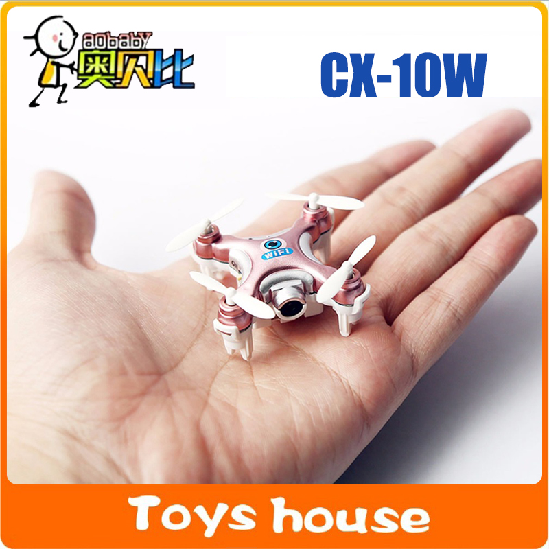 2016 Cheerson Mini RC Wifi Quadcopter with Camara LED 3D Flip 4CH Remote Control Helicopter CX-10W Mini Drone(China (Mainland))
