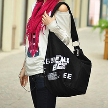 Korean Womens Shoulder Bag Irregular Canvas Cross Body Slingbag Messenger Bags Free & Drop shipping