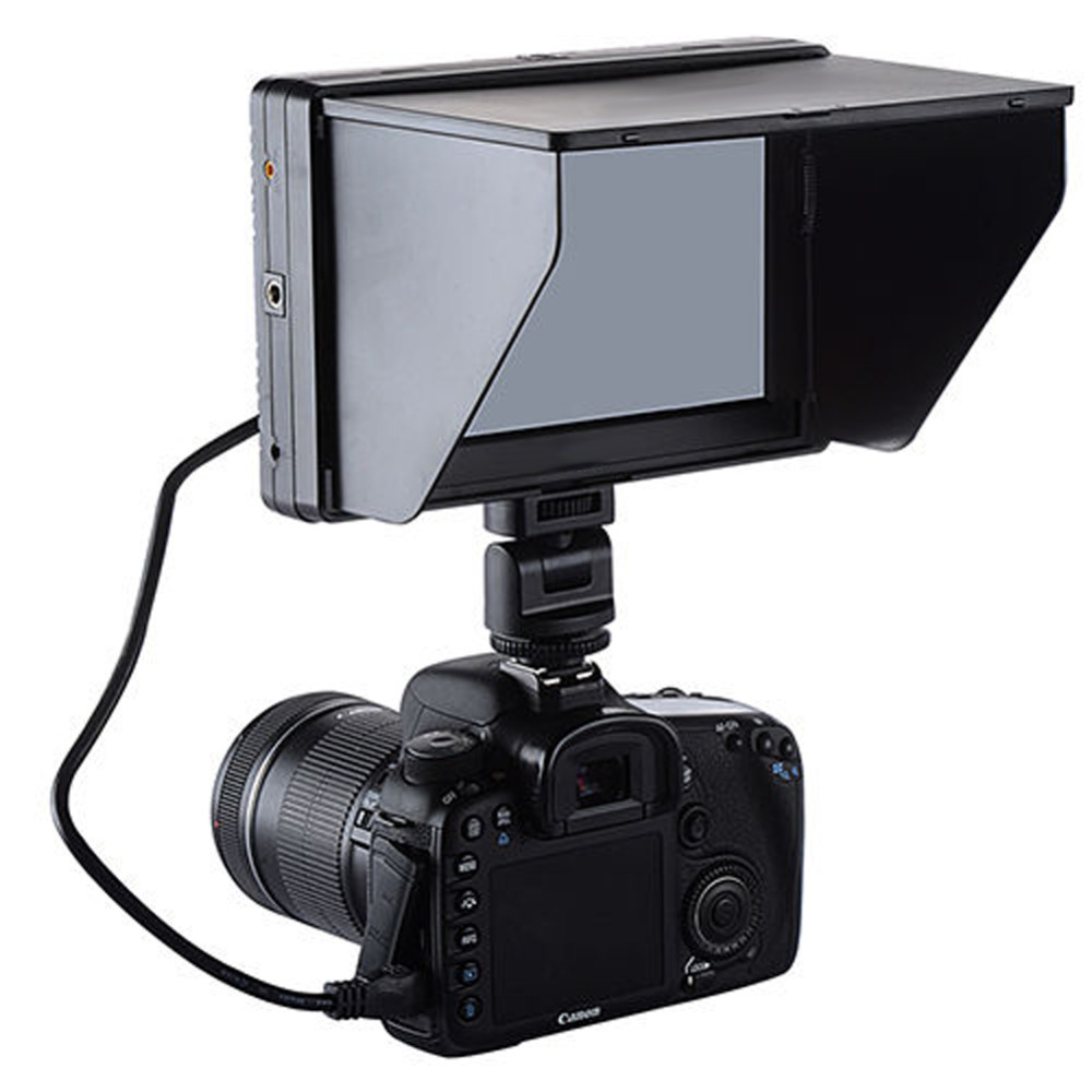 Mcoplus Viltrox 7 DC-70 Clip-on Color TFT HD LCD Camera Monitor Display HDMI With Sun Shade AV Input 1280x800 for DSLR Camera<br><br>Aliexpress
