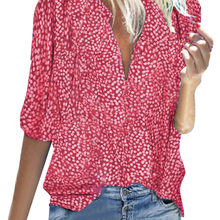 Women Chiffon Blouse Summer 2019 Fashion Tops Half Sleeve V Neck Floral Print Blusas Casual Boho Clothing Oversized 5XL Shirts(China)