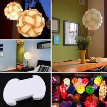 30 pz elementi iq puzzle fai da te creativo jigsaw home ombra della luce della lampada a soffitto paralume design taglia s bianco decorazione(China (Mainland))