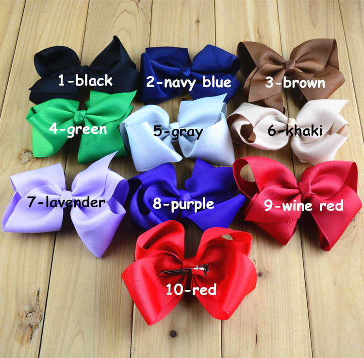 Free shipping, 100 pcs/lot , Large 4.7 Boutique Hair Bow Clips Girls Bow Hair Bows Hair Clip WholesaleОдежда и ак�е��уары<br><br><br>Aliexpress