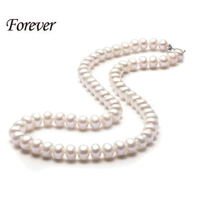 Classic Natural Pearl Necklace For Women Necklace Beads Jewelry 40cm/45cm/50cm Length Necklace Fashion Jewelry Mother Gift(China (Mainland))