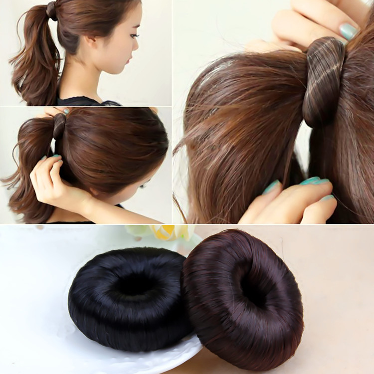 Hair Braider New Women Hairpiece Donut Hair Styling Accessory Braiding Tools Updo Maker Hair Accesories Black(China (Mainland))