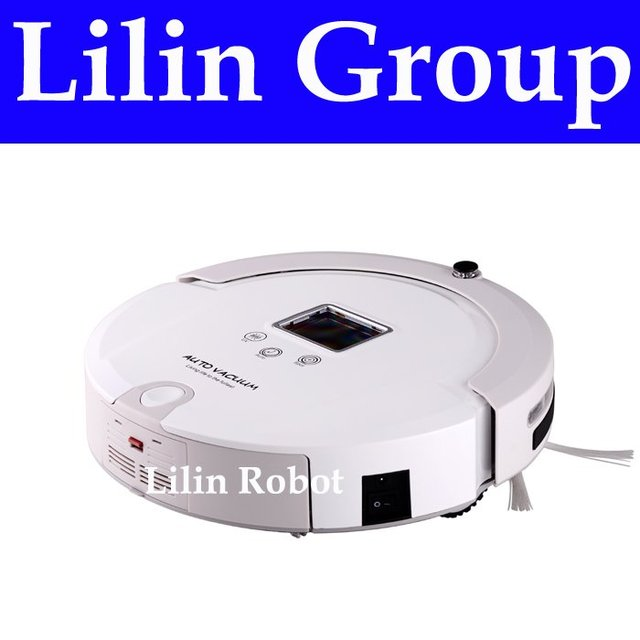 (Free to Netherlands) 4 In 1 Multifunctional Robot Vacuum Cleaner, LCD Screen,Touch Button,Schedule,Virtual Wall,Auto Charging