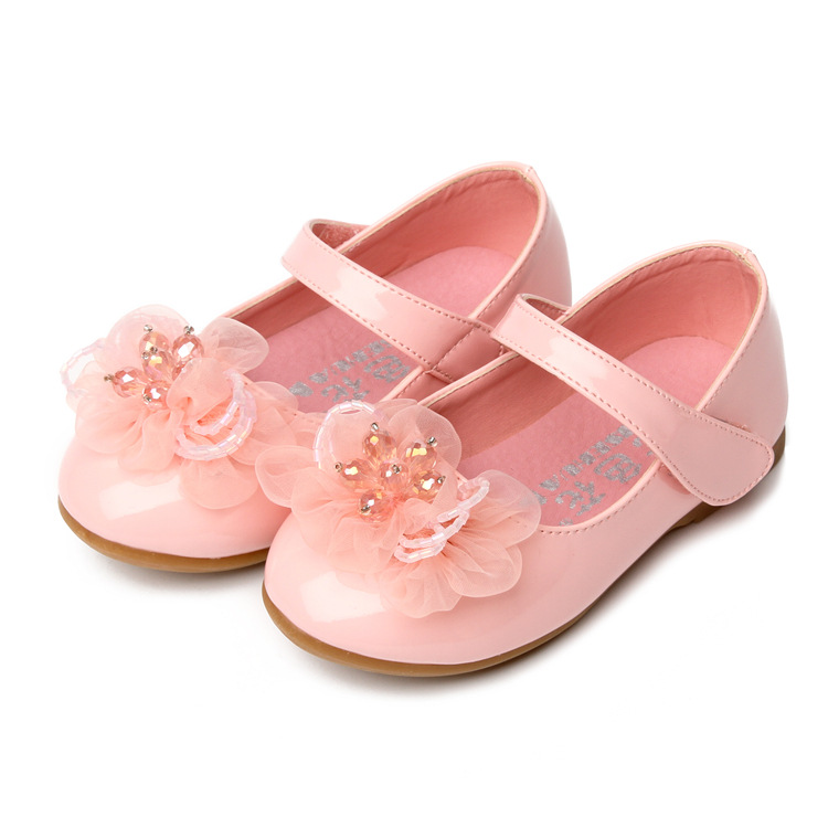 Bowtie flat shoes kids leather shoes for girl kids leather shoes