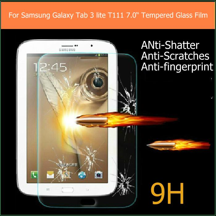 Super quality samsung galaxy tab 3 lite T111/T110 7 inch Premium Tempered Glass Anti-shatter LCD Screen Protector Films stock - X'MAS GIFT STORE store
