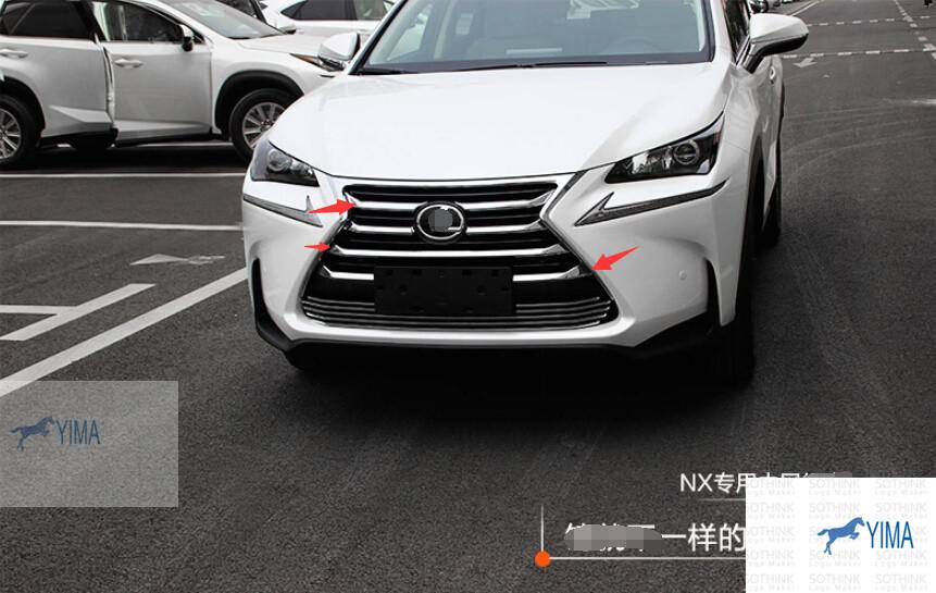 Fashion Racing Grills For LEXUS NX NX200T NX300H 2015 Chrome Front Grille Cover Trims 7pcs / set<br><br>Aliexpress