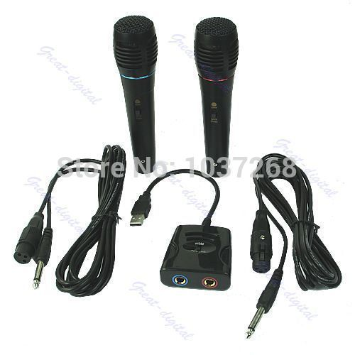 1SET 5 in 1 Wired Karaoke Microphone Mic Set For PS2 PS3 XBO X360 Nintendo wii New(China (Mainland))