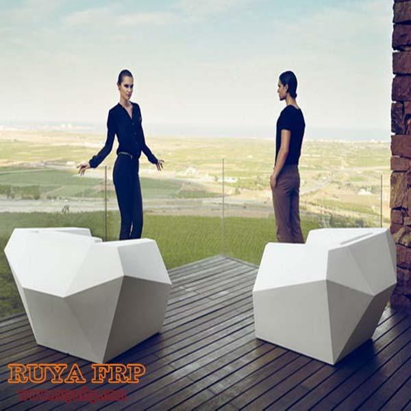 RUYA single sofa,fiberglass diamond design office furniture,resin furniture custom-made China manufacturer RY-F070(China (Mainland))