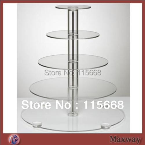Crystal 5 tiers acrylic wedding cupcake stand(China (Mainland))