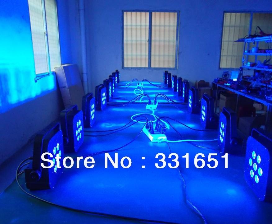 3pcs/lot 2013 Hot Flat Slim LED Par Can Light 7x15W RGBWA 5IN1 LED Flat Slim Style Par 5/9 Channels(China (Mainland))