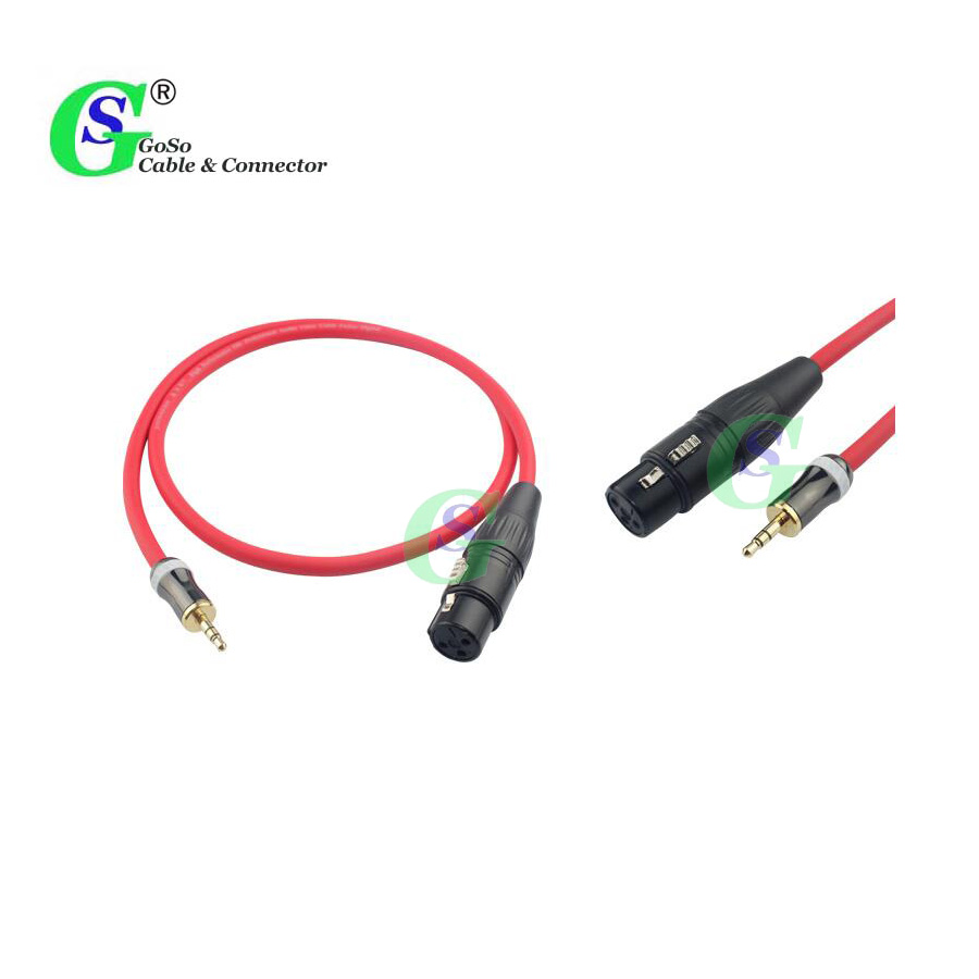 GoSo Colorful 3 Pin 3P XLR Female to Stereo 3.5mm Jack Male Audio Cable F/M C603 10 colors 1.5m - 30m(China (Mainland))