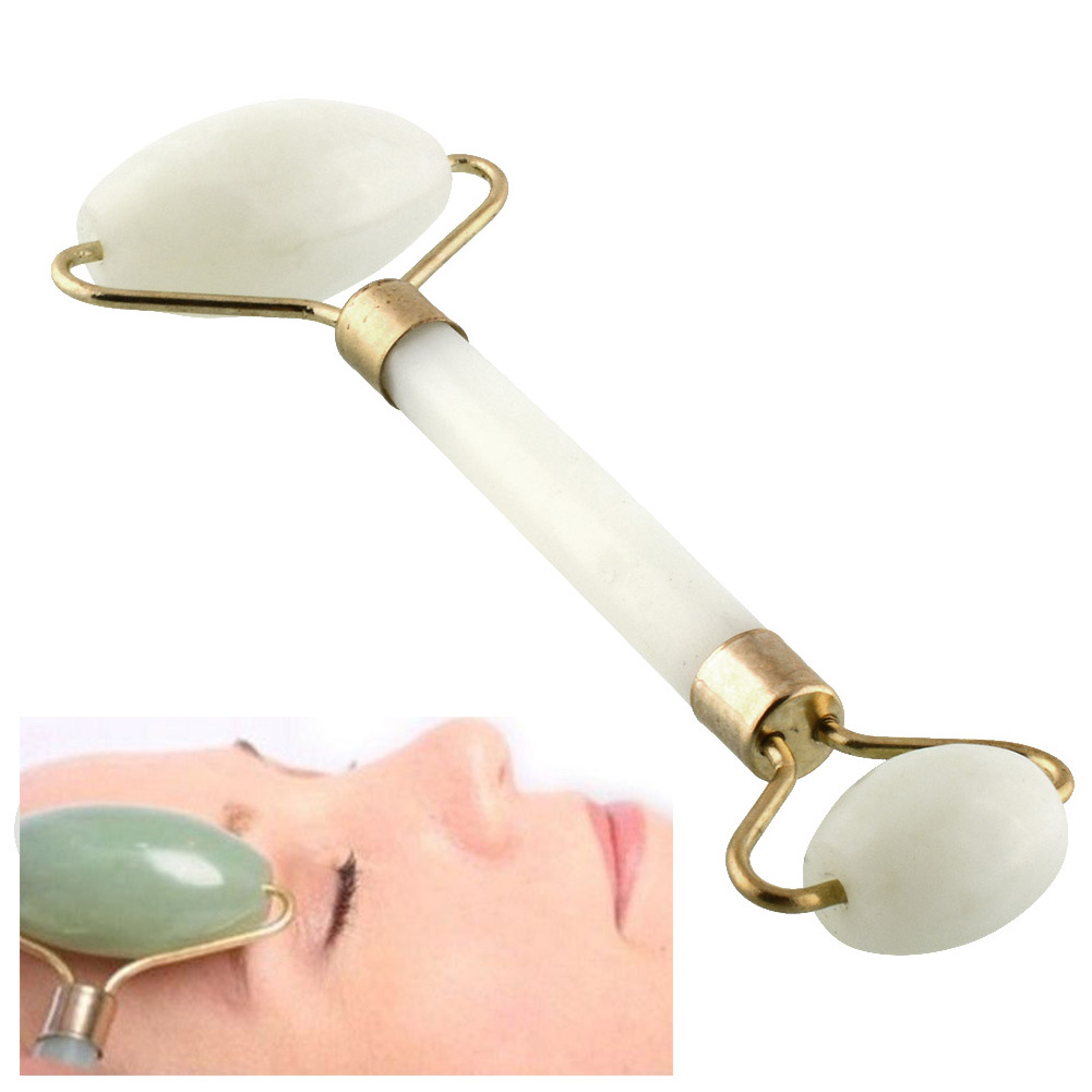 New Hot Pratical Jade Facial Massage Roller Anti Wrinkle Healthy Face Body Head Neck Foot Nature Beauty Tool(China (Mainland))