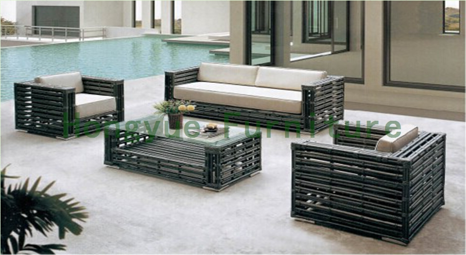 China Rattan Material Living Room Sofa Set Furniture With Cushions In Living Room Sofas From