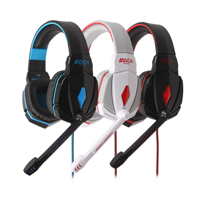 High Quality Hot Sale 2014 Newest Brand EACH G4000 Stereo Wired Gaming Headset Headphone with Mic Volume Control Free shipping(China (Mainland))
