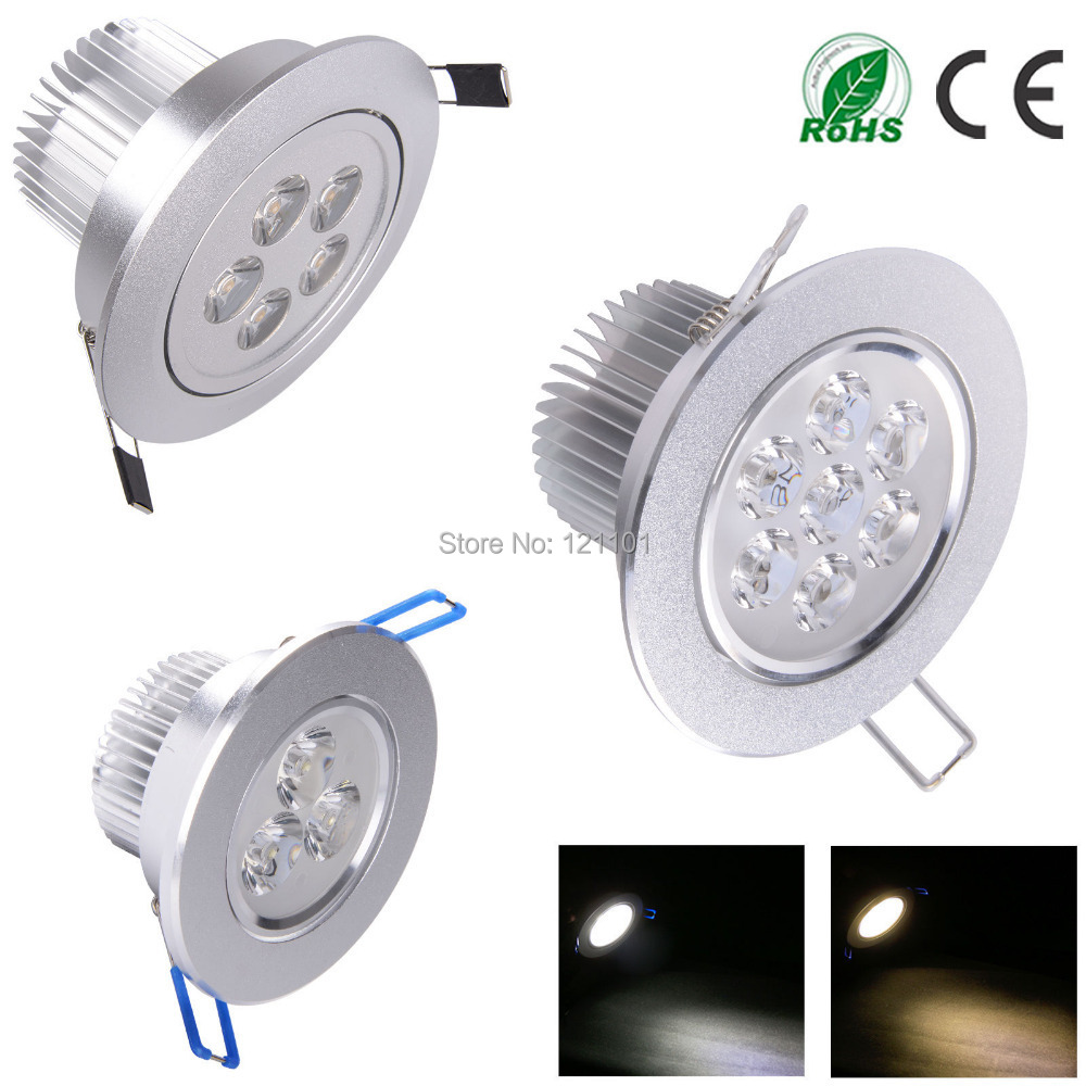 9W 12W 15W Non Dimmable AC85-265V Spot luminaria lampada LED Recessed Ceiling Lamp Downlight LED Down Lights for indoor home(China (Mainland))