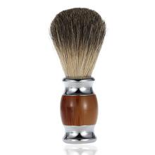 Wooden Handle Shaving Brush Pure Badger Hair Shaving Brush Barber Salon Men Facial Beard Cleaning Shave Tool Shaving Razor Brush(China (Mainland))