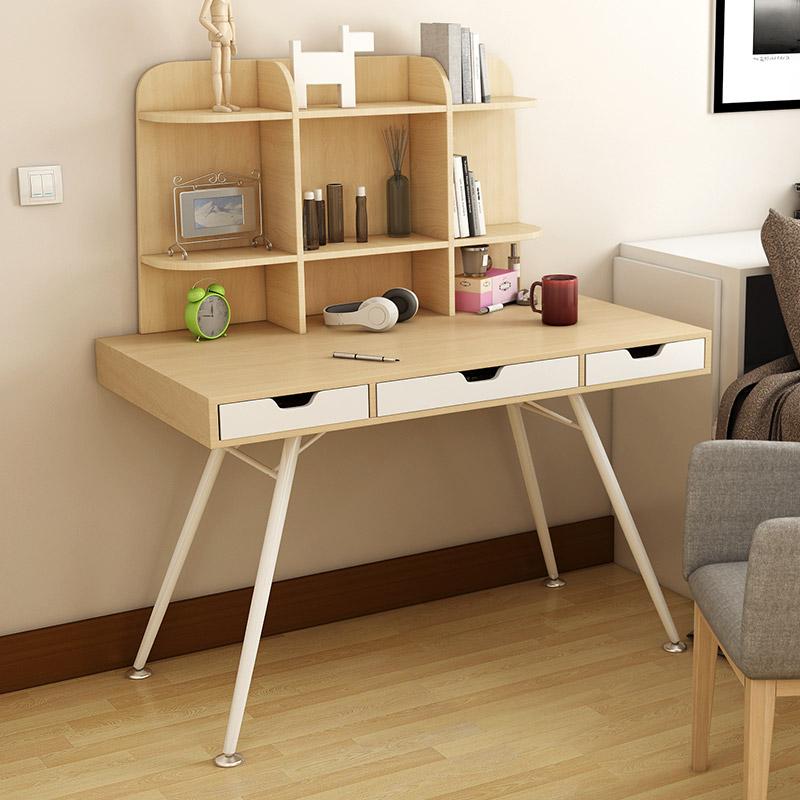 Desk bookshelf combination desk modern simple computer desk IKEA simple bedroom desk with drawer(China (Mainland))