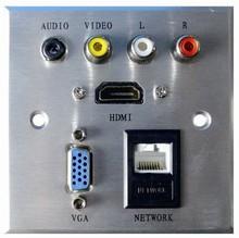 RCA/аудио многофункциональный информации av разъем алюминиевый материал для hotel прочный неделю разъем