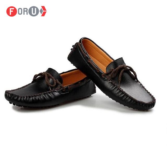 Мужчины обувь натуральная кожа квартиры лодка обувной воздухопроницаемый вилочная ...