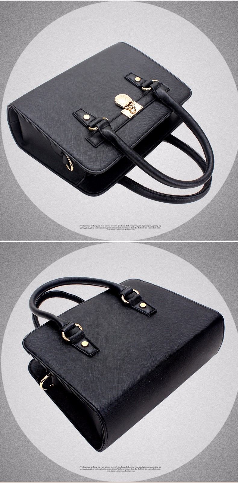 Trendy Elegant Women New Fashion Handbag Lock Ornament Luxury Embossing Bag High Quality PU Leather Shoulder Bag Crossbody