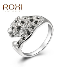 ROXI Exquisite leopard cool men ring platinum plated with AAA zircon,fashion jewelry for men and women ,a ring for wedding(China (Mainland))