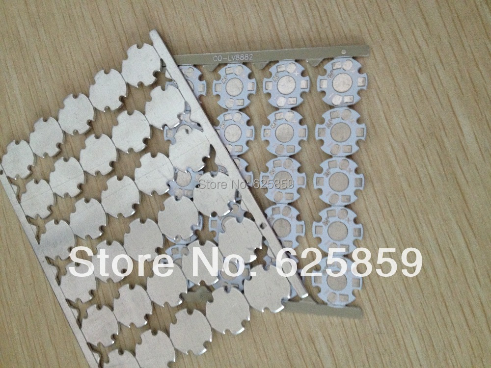 Free shipping 100pcs 16mm 1W 3W high power LED white PCB aluminum star for LED lighting accessories(China (Mainland))
