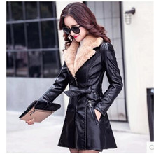 Buy Winter clothes add wool imitation leather coat long-sleeved han edition thick high quality women clothes fashion coat OK26 for $98.80 in AliExpress store
