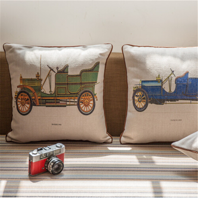 100% Cotton Vintage Sofa Cushion Cover Home Decor French Style 45*45cm(China (Mainland))