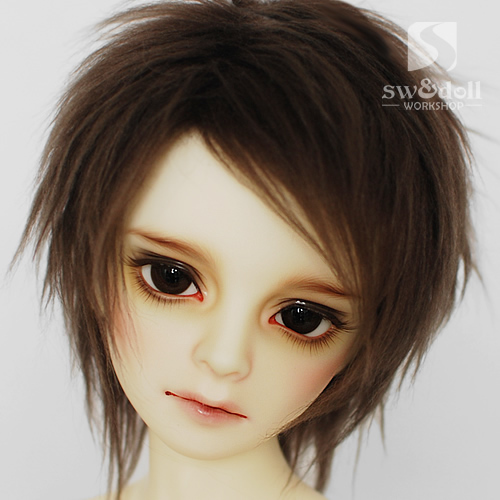 Brown wool   BJD Doll Fur Wig for BJD 1/3 1/4 1/6 1/8 1/12 Full Size<br><br>Aliexpress