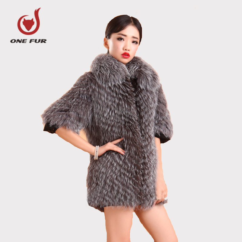 HOT TOP Silver fox fur coat fashion real fur with collar short-sleeve womens fur clothes winter long design female outewear Одежда и ак�е��уары<br><br><br>Aliexpress